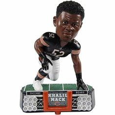 Khalil Mack Chicago Bears Stadium Lights Limited Edition Bobblehead #ChicagoBears