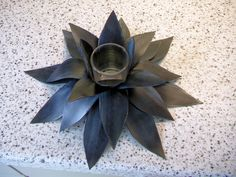 Waterlilly made from inner tube rubber