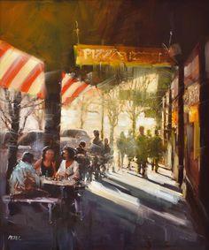 HERMAN PEKEL (BORN 1956) Lygon Street oil on board