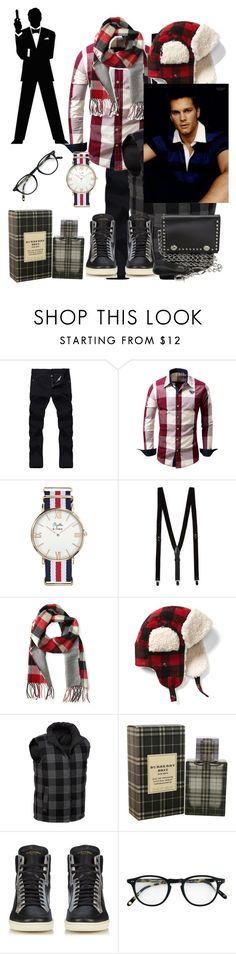 """Untitled #2355"" by princhelle-mack ❤ liked on Polyvore featuring James Bond 007, Topman, Aéropostale, Gap, G.H. Bass & Co., Burberry, Yves Saint Laurent, Garrett Leight, M&F Western and men's fashion"