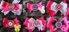 6 Super girl Hair Bows  Super Hero Hair bows   by Sarabows on Etsy, $20.99