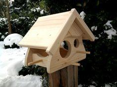 Nistkästen & Vogelhäuser - Vogelhaus Futterhaus Vogelvilla Alm natur - ein Designerstück von wolle1197 bei DaWanda