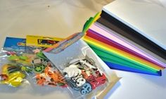 Foam sheets and foam stickers...backseat crafts for kids.