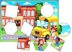 Free printable worksheets. TeachersMag.com Shape Worksheets For Preschool, Animal Worksheets, Shapes Worksheets, Free Printable Worksheets, Preschool Themes, Preschool Lessons, Counting Activities, Kindergarten Activities, Pattern Worksheet