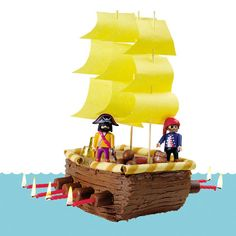Pirate Ship Cake - a pirate birthday cake next year? Pirate Day, Pirate Theme, Pirate Food, Candyland, Pirate Birthday Cake, Birthday Cakes, Pirate Ship Cakes, Cute Cakes, Creative Cakes