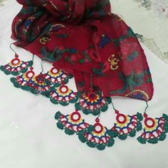 Crochet Scarves, Crochet Patterns, Floral, Crocheting, Instagram Posts, Fashion, Crochet, Moda, Fashion Styles