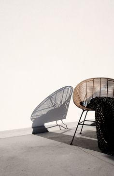 pinned by http://www.heimelig-shop.com/furniture----/chairs-armchairs/lounge-chair-rattan-retro-house-doctor.html