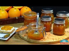 MERMELADA DE NARANJA CASERA. Receta muy fácil y natural. Loli Domínguez. Recetas - YouTube Chutneys, Hot Sauce Bottles, Preserves, Jelly, Salsa, Dips, Mason Jars, Food And Drink, Baking