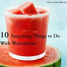 10 Surprising Things to Do with Watermelon...For more creative tips and ideas FOLLOW https://www.facebook.com/homeandlifetips