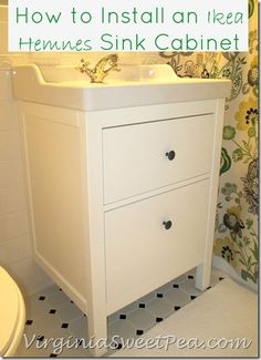 Bathroom Renovation Update :: How To Install An Ikea Hemnes Sink