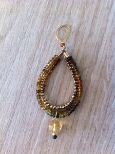 Glamorous dangling earrings: tourmaline, pyrite, citrine and gold filled. Handmade