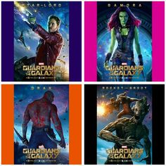 Loving these NEW !!! Character Posters from Guardians of the Galaxy.