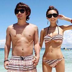 2badb173a9 Buy  Little Dolphin – Couple Set  Women Bikini Cover Up Dress   Men Swim