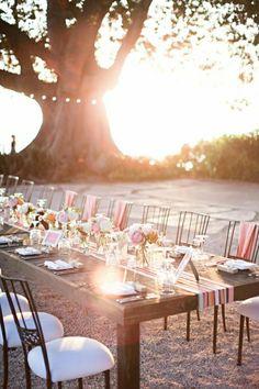 centre de table mariage, comment décorer pour un mariage de jardin