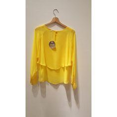 Blusa doppia balza gialla Pois  #lusilu #pois #abbigliamento #laspezia #negozio #blusa #camicia #moda #fashion #shopping