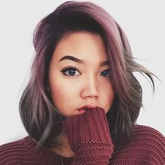 Purple fade to grey <3 Passion for color