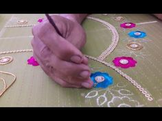 Design Discover Making of Pattern Maggam work Blouse Aari Embroidery Embroidery Dress Embroidery Designs New Blouse Designs Saree Tassels Crochet Curtains Work Blouse Design Tutorials Baby Dress Aari Embroidery, Hand Embroidery Videos, Hand Work Embroidery, Hand Embroidery Designs, Embroidery Patterns, Embroidery Dress, Simple Flower Design, Flower Designs, New Blouse Designs