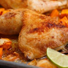 Learn to make Southwest Roasted Chicken & Sweet Potatoes. Read these easy to follow recipe instructions and enjoy Southwest Roasted Chicken & Sweet Potatoes today!