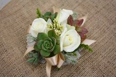 Wrist corsage with succulents