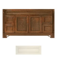 Architectural Bath Savannah 60-in x 21-in Vanilla Traditional Bathroom Vanity 769