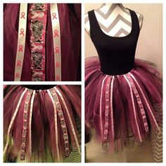 Breast Cancer Tutu Made by 2Kute2Sassy