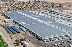 Walmart's distribution center in Buckeye, Arizona has 3.3 MW solar installation.