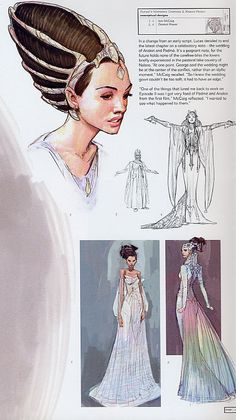 Padmé Costume Sketch – Art Drawing Tips Star Wars Concept Art, Star Wars Art, Foto Fantasy, Fantasy Art, Costume Padme, Character Concept, Character Art, 3d Mode, Star Wars Costumes