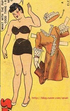 Bertha Bungle's wardrobe by Dale Messick, artist of the Brenda Starr comic strip and newspaper dolls (1 of 3) | Naver blog | 종이인형 (빈티지) : 네이버 블로그