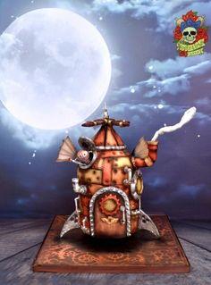 Steampunk flying machine - Cake by Karen Keaney