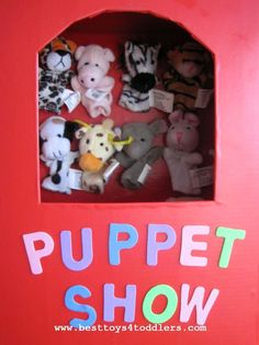 DIY Take Along Finger Puppet Theater with Storage