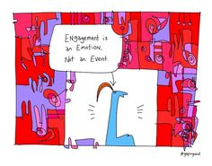 Learn more about engagement is an emotion, not an event from Gapingvoid, the leaders in workplace culture consulting and making work more meaningful! Simply Life, Change Management, Employee Engagement, Competitor Analysis, Funny Cartoons, Master Class, Workplace, The Incredibles, Positivity