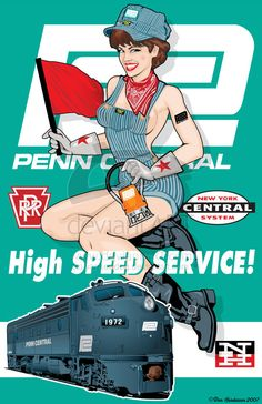 Penn Central Pin-Up by ~yankeedog on deviantART