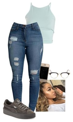 """""""3:08"""" by trill-snow on Polyvore featuring Puma and Thom Browne"""
