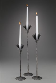 Calla Lily Candle Holders by Luke Proctor (Metal Candleholders ...