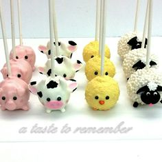 Farm animal cake pops                                                       …