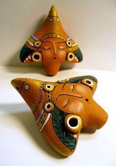 Купить или заказать Окарина в интернет-магазине на Ярмарке Мастеров. Окарина (керамика, глазурь,акрил) каждая имеет свое звучание.