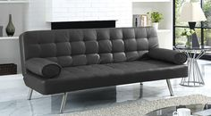 Welcome to Ideas of 2016 black leather sofa beds; A Charm and Classic Feel with Modern Touch article. Black Leather Sofa Bed, Colorful Couch, Luxury Sofa, Drawing Room, Living Room Sofa, Sofa Beds, Sofa Sofa, Interior Design Living Room, Interior And Exterior