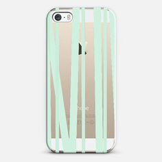 Pale Mint Stripes iPhone 5s case by Lisa Argyropoulos | Casetify
