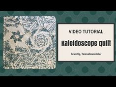 Video tutorial: Kaleidoscope quilt – quick and easy quilting | Sewn Up. Best tutorial I've seen!