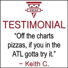 You heard the man... if you're in Atlanta, come try our pizza!   Knead Pizza is the Ultimate Pizza Lounge in Atlanta! Visit www.kneadpizzaatl.com or call (678) 974-5193 for more information! 5495 Old National Highway Suite B9, Atlanta, GA Hours: T-T 4p-11p, F-S 11a-1a, Sun 4p-11p Knead Pizza, Off The Charts, The Man, Atlanta, Lounge, Sun, Airport Lounge, Lounges, Living Room