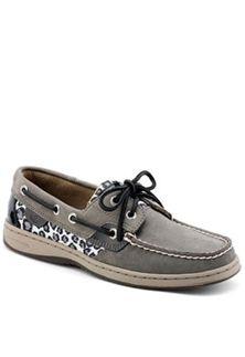 Sperry Top-Sider Womens Bluefish 2- Eye Boat Shoe– Charcoal Sparkle Leopard