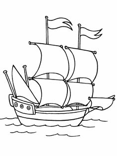Columbus Day coloring pic