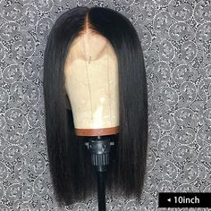 Deep Part Short Bob Lace Front Wigs Human Hair Pre Plucked Full End High Density Brazilian Straight Bob Wigs For Women Bleached Knots Natural Black Short Human Hair Wigs, Human Wigs, Cheap Human Hair, Bob Lace Front Wigs, Quality Wigs, Wig Making, Womens Wigs, Wigs For Black Women, Bob Hairstyles