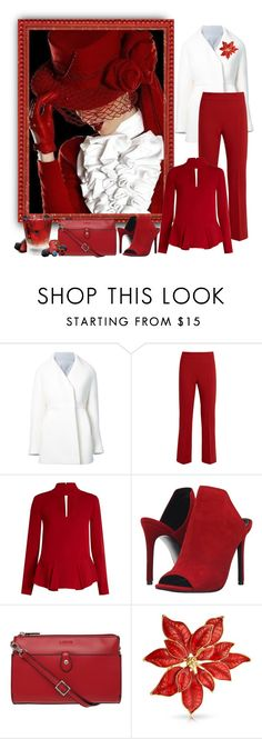 """use & abuse of red contest"" by art-gives-me-life ❤ liked on Polyvore featuring Delpozo, MaxMara, Diane Von Furstenberg, Steve Madden, Lodis, Bling Jewelry, vintage, contestentry and VintagetoShabbyChic"