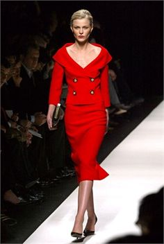 celine 2004 red suit - Google Search Red Suit, 2000s, Celine, Peplum Dress, Suits, Elegant, Google Search, Vintage, Dresses
