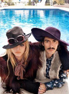 Sasha Pivovarova & Dhani Harrison photographed by Steven Meisel and styled by Edward Enninful