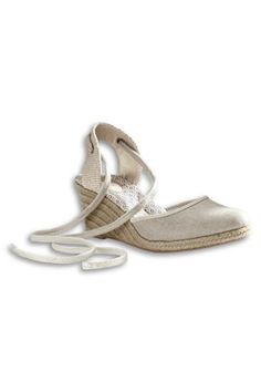 Women's Cara Wedge Closed Toe Espadrille Shoes- Pinned by Lark Mills onto Shoes from landsend.com