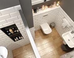 EKLEKTYCZNY DOM - Mała łazienka w bloku z oknem, styl eklektyczny - zdjęcie od PEKA STUDIO