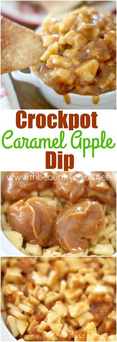 Crock Pot Caramel Apple Dip recipe from The Country Cook