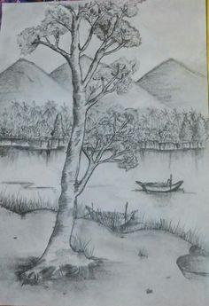 Nature Sketches Pencil, Pencil Sketching, Pencil Art, Love Painting, Painting & Drawing, Animal Drawings, Pencil Drawings, Charcoal Drawings, Pencil Portrait